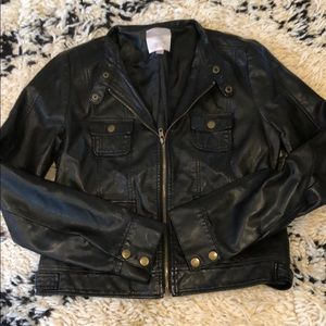 Romeo & Juliet Couture Black Leather Jacket